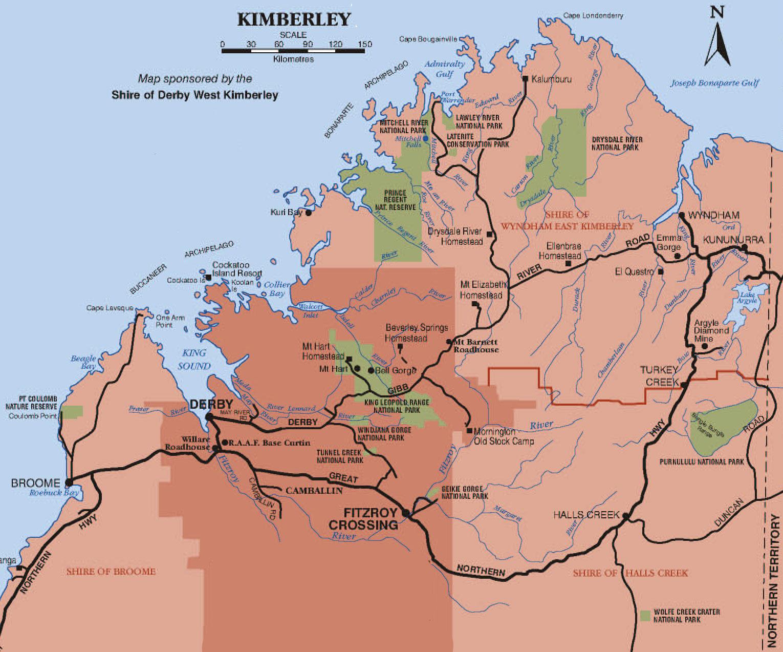 Gibb River Road Iconic Roads Of Australia Camps Australia Wide - Map of australia roads